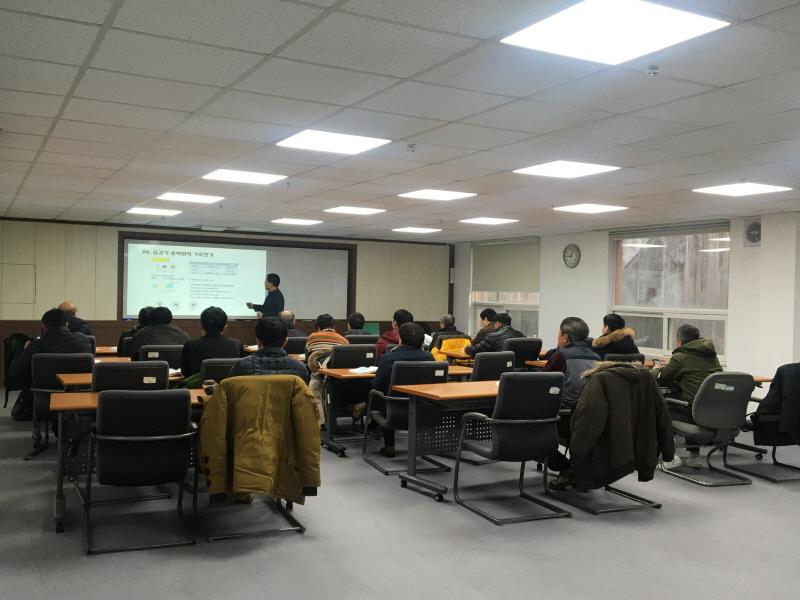 일자리창출팀- 수정구 산성동 한국폴리텍 성남캠퍼스에서 승강기 설치·유지보수 전문인력 과정 교육 중