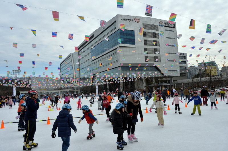 체육진흥과-중원구 여수동 성남시청 야외 스케이트장(지난해 1월)