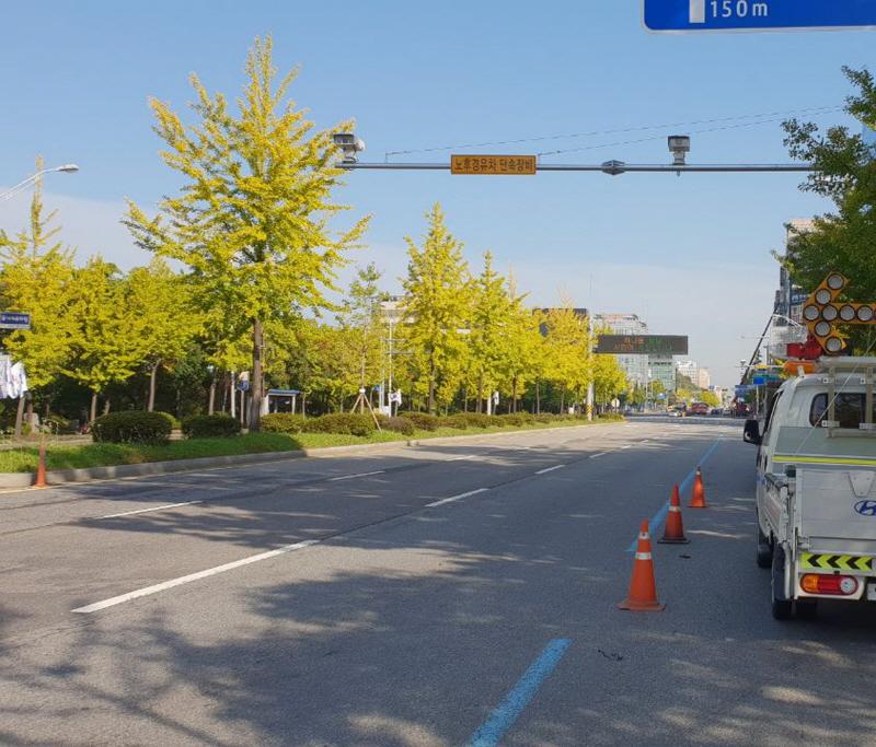 환경정책과-성남시내에 설치된 노후 경유 차량 번호 인식 cctv 카메라(구미동)