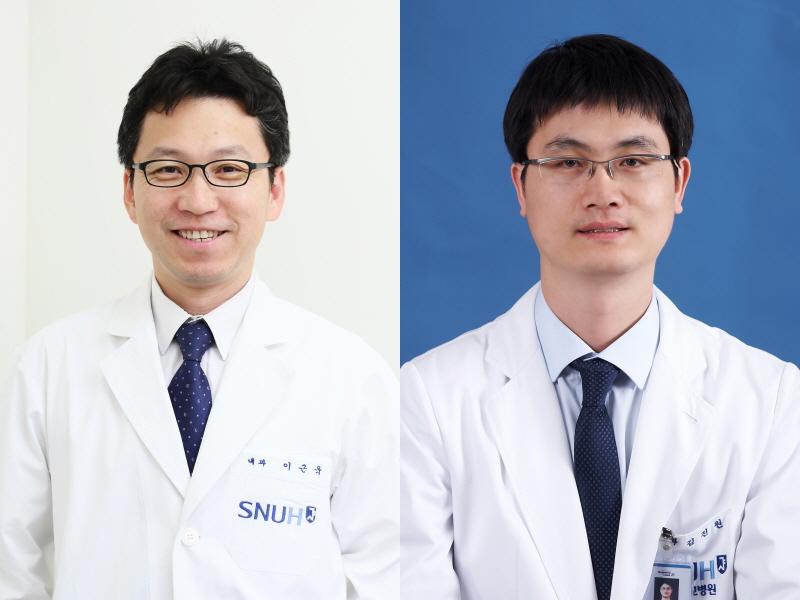 분당서울대병원 혈액종양내과 이근욱(좌), 김진원(우) 교수