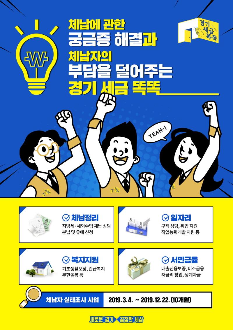사진제공=경기도청-체납관리단 실태조사 사업 홍보 포스터