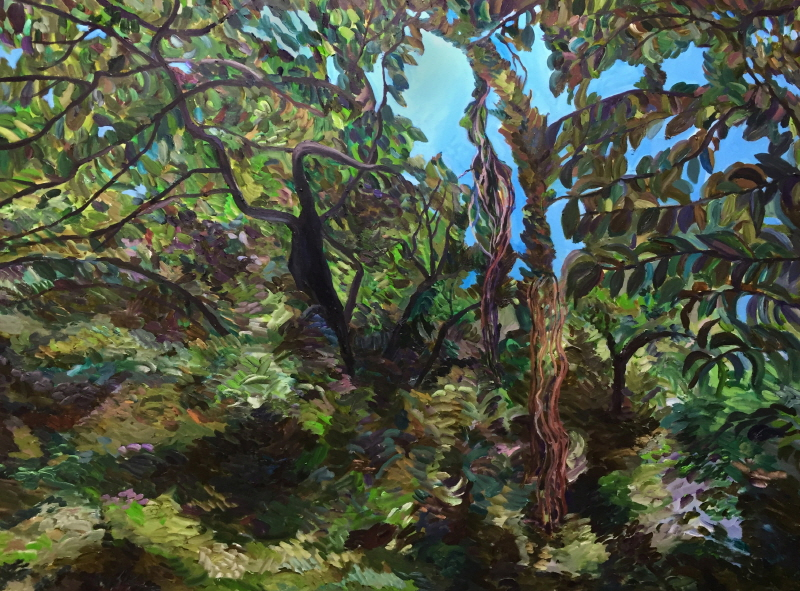 숨숲 116×91㎝ oil on canvas 2018