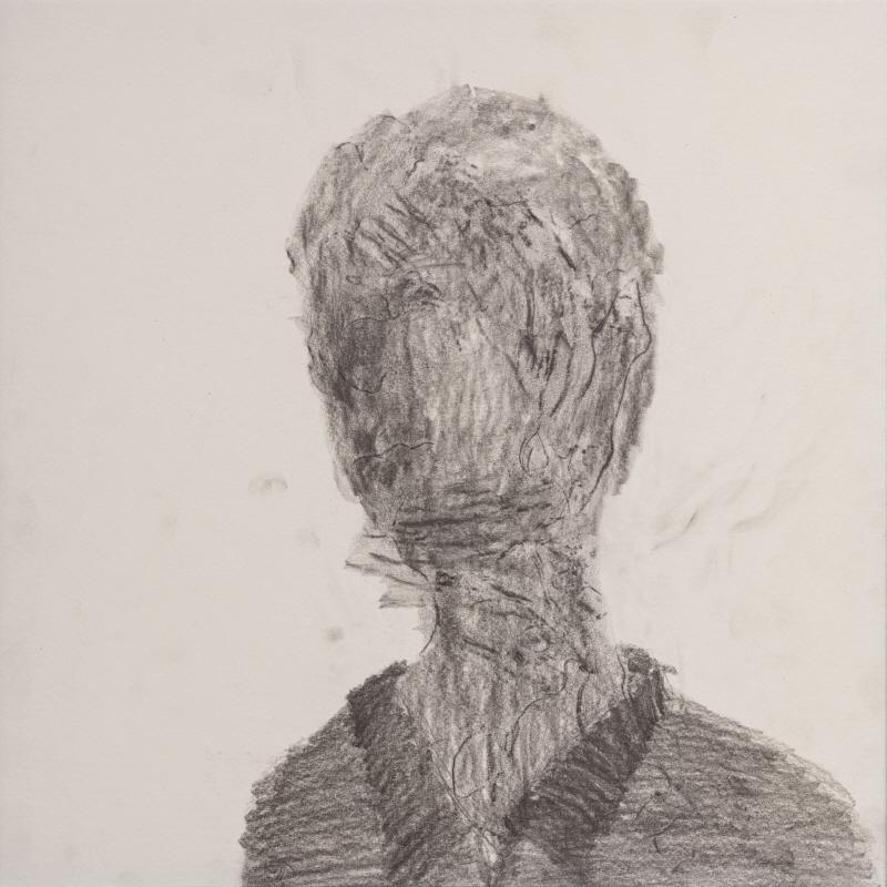 이해민선,cast_나오는사람, 2017, 40x40cm, 나무위에 종이 프로타주